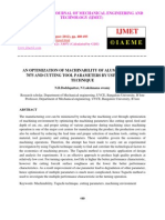An Optimization of Machinability of Aluminium Alloy 7075 and Cutting Tool Parameters by Using Taguchi Technique