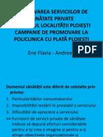 PROMOVAREA SERVICIILOR DE SĂNĂTATE PRIVATE