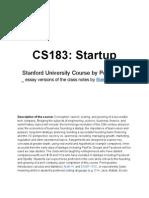 Peter Thiel's CS183- Startup - Class Notes Essays