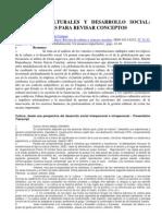 POLÍTICAS CULTURALES Y DESARROLLO SOCIAL ALGUNAS NOTAS PARA REVISAR CONCEPTOS