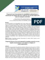 Proposta de uso de um sistema de contabilidade ambiental para a mensuração da Logística Reversa