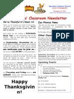 Week 14 Newsletter