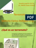 Roberto Carlos Gallegos Cruz.Terremotos