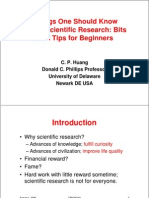 v2 Things One Should Know About Scientific Research