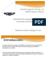 Roberto Carlos Gallegos Cruz. Velocidad de Ondas Sismicas