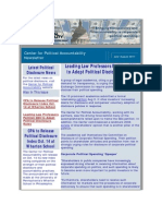 Center for Political Accountability July-August 2011 Newsletter