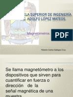 Roberto Carlos Gallegos Cruz. Magnetómetros.