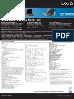 Especificaciones de la Sony Vaio VGN-AR590 FG