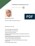 Krishnamurti y El Budismo El Conocimiento de Uno Mismo-walpola