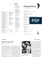 The Platypus Review, № 4 — April-May 2008 (reformatted for reading; not for printing)