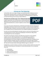 Gründe für die Nutzung von Text Spinning zur Suchmaschinenoptimierung (WhitePaper)