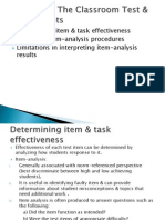 Appraising the Classroom Test & Assessments