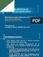 003 Los Apostoles y Las Escrituras