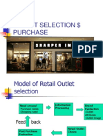 Outlet Selection $ Purchase