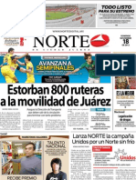 Periodico Norte de Ciudad Juárez 18 de Noviembre de 2012