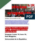 Noticias Uruguayas Domingo 18 de Noviembre Del 2012