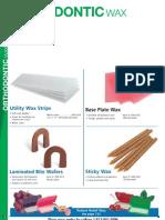 14.ORTHODONTIC WAX_Ortho Technology Dealer Product Catalog 2012