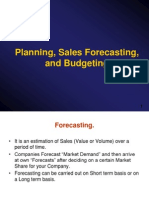 Planning,Sales Forecasting
