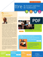 La Lettre du CSA n° 265 - Novembre 2012