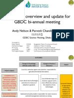 G1 - GBDC Science Meeting 11-11-12