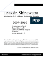 Thaksin Shinawatra US Lobbying Records (2007-2010)