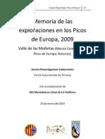 2009 Memoria Campaña Picos de Europa (Valle de las Moñetas)