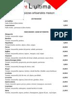 Pizzas Artisanales Maison