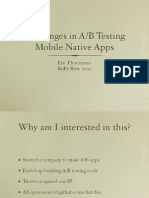 Challenges in A/B Testing Mobile Native Apps
