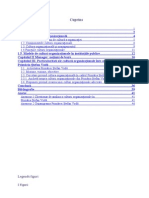 Teza de an 2012_Interdependenta Dintre Manger Peblic Si Cultura Organizationala in Institutiile Publice
