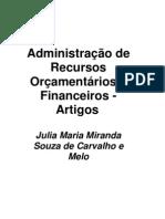 Administração de Recursos Orçamentários e Financeirosartigos