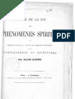 Résumé de la loi des phénomènes spirites