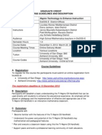 grad credit  course guidelines-nspire technology