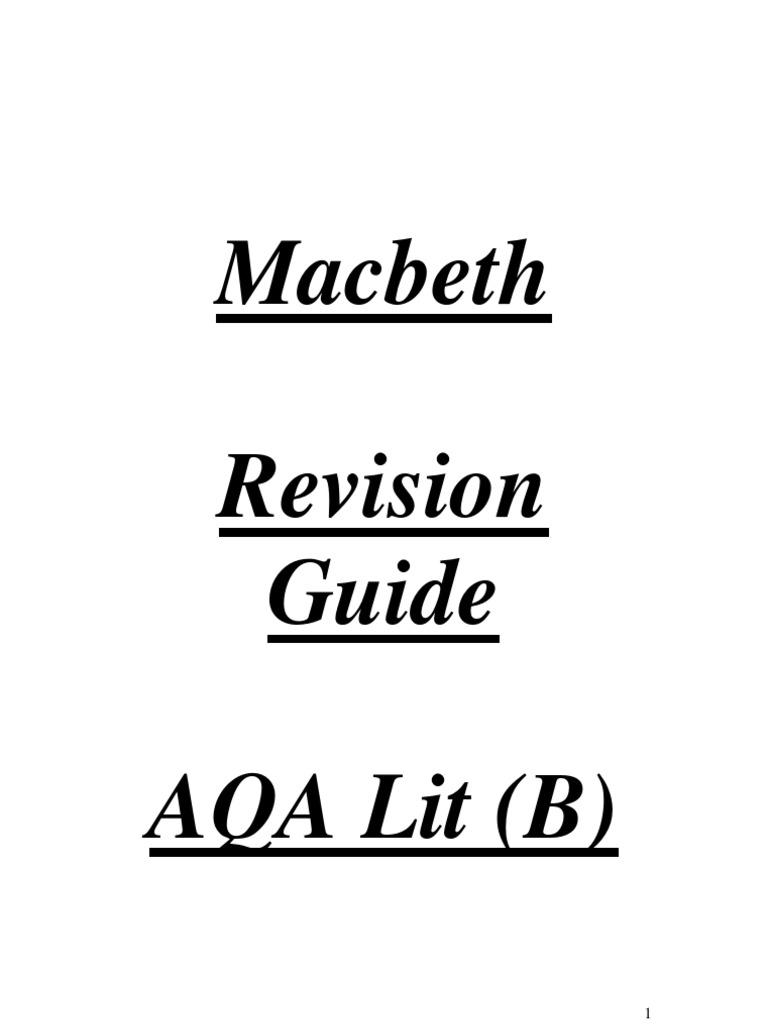 Macbeth guide macbeth william shakespeare robcynllc Images