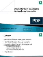 Possibilities of WtE in Developing Countries