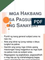 Mga Hakbang sa Pagsulat ng Sanaysay