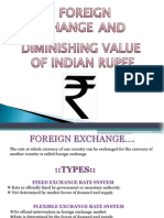 Foreign Exchange and Diminishing Value of Indian Rupee