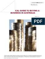 A Practical Guide to Buying a Business in Australia March 2010