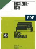 Claas List Pieces Markant40