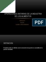 Operaciones Unitarias de La Industria de Los Alimentos