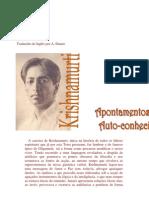 J.krishnamurti - Apontamentos Sobre Auto Conhecimento
