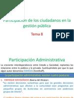 TEMA 8 Participacion de Los Ciudadanos en La Gestion Publica