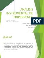 Analisis Instrumental de Triperpenos No Va