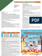 CARRERA CHAMUSCAOS DÍPTICO 2012