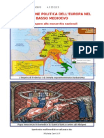 LA SITUAZIONE POLITICA DELL'EUROPA NEL BASSO MEDIOEVO