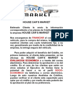 INFORMACION HOUSE CAR'S MARKET