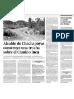 Chachapoyas Destruye Camino Inca