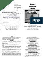 November 11, 2012 Church Bulletin