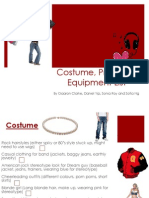 Costume, Prop and Equipment List