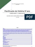 planificação história 9º ano