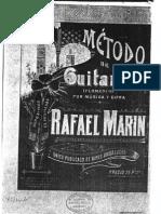 Rafael Marin. Metodo de Guitarra Flamenco. 1902
